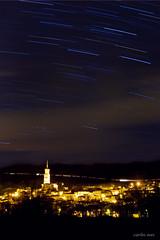 Funes (navarrito79) Tags: longexposure night clouds stars landscape noche nikon paisaje nubes estrellas nocturna startrails navarra funes largaexposicin d600 nikon70200 paisajenocturno starstax