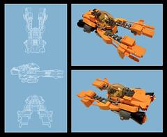 SPX-1200 FELIX (nate_decastro) Tags: lego space scifi speeder moc antigrav