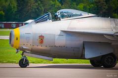 """Saab J 29F Tunnan """"Gul Rudolf"""" (hjakse) Tags: f10 airshow sverige f3 fc linköping flugtag malmslätt j29 flygvapnet tunnan 29670 försvarsmakten flyguppvisning svfm f13m östergötlandslän sedxb saab29 gulrudolf huvudflygdag"""