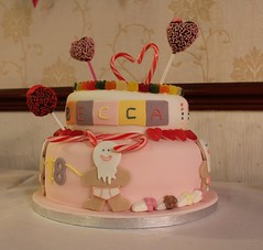 Candy Land 18th Birthday Cake (Cathy@37) Tags: birthday cake candy celebration birthdaycake sweets 18 lollies candyland gingerbreadmen cakepops