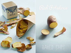 Red Potatoes Baked Chips (| Les Hirondelles |) Tags: italy detail closeup potatoes italian diptych raw salt tasty vegetable chips pale eat homemade potatoe paleblue fod baked potatoechips redpotatoe igp bakedchips projectphotographer leshirondellesphotography rawpotatoe prph