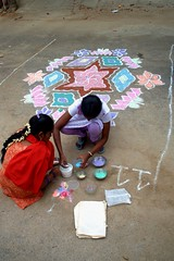 9 (akila venkat) Tags: street art colours patterns bangalore rangoli indianart