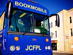 Day 73 Jersey City Bookmobile (chris langston photography) Tags: blue bus public lumix newjersey jerseycity library free olympus panasonic 20mm day73 omd bookmobile pancakelens em5 365project micro43rd
