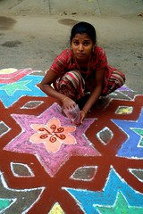 16 (akila venkat) Tags: street art colours patterns bangalore rangoli indianart
