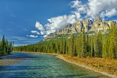 Canada's Castle (Phil's Pixels) Tags: canada mountains explore alberta rivers bowriver castlemountain canadianrockies mounteisenhower