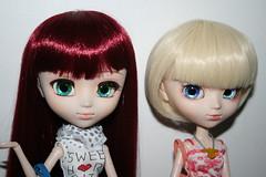 Evangeline and finished Clarice (♡momori♡) Tags: fashion nc doll pretty dolls duo group mami clothes korean planning groove bjd pullip custom jun tomoe yona coolcat customization stardoll