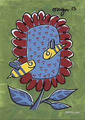 ONYN-00742l (ONYN Paintings) Tags: uk original summer england sun get flower london love smile modern wow wonderful painting fun fantastic kiss funny paint artist folkart outsiderart gallery view heart unitedkingdom sale contemporary originalpainting character bees humor dream insects humour pop bee canvas urbanart popart fantasy gift handpainted license laugh stunning buy present greetings purchase britian whimsical genuine veryfunny eastlondon hotday whimsicalart canvasart outsidder onyn onyncom