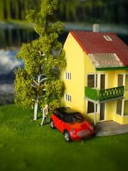 When a Man's Gotta Go, a Man's Gotta Go (Bo47) Tags: 2013 car copenhagen denmark europe fantasia house man miniature olympus17mmf18 olympusomdem5 peeing stilllife toys