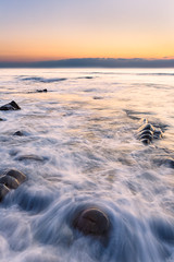 Sandy Mouth Bay (Pete_Latham) Tags: longexposure sunset sea seascape rocks cornwall adobe dxo lightroom bude sandymouthbay niksoftware