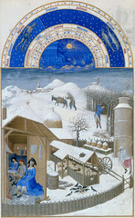 February (petrus.agricola) Tags: les de berry medieval muse illuminated chateau manuscript trs duc chantilly frres riches heures cond limbourg