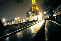 girl (r4yn0lds) Tags: paris france cute tower bench photography amazing long exposure pretty carousel eiffel incredible