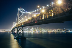 Bay Bridge (:Justin) Tags: sf bridge bay san francisco long exposure angle wide 1224 canon50d