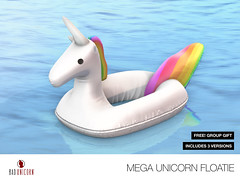 FREE! [Bad Unicorn] Mega Unicorn Floatie GROUP GIFT (Bhad Craven 'Bad Unicorn') Tags: life new original portrait urban game art pool fashion work photography design photo blog store 3d clothing high graphics shadows graphic image mesh photos pics top quality profile bad picture free progress wip ring sl gaming secondlife definition second production characters hd animated concept float unicorn exclusive bu craven gfx  concepts frees freebie 2l anmated freebies buc meshes meshed lindens bhad badunicorn