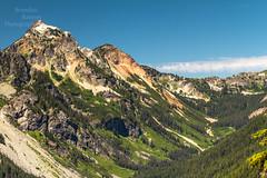 Hibox Mountain. (Brendinni) Tags: cascades cascaderange hiboxmountain cooperpass trees landscape blueskies green worn