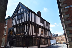 Coventry.  The Golden Cross public house. First mentioned as an inn in 1661, the Golden Cross is dated to 1583. The structure of the building is typical of the Tudor-style. (Anne & David (Use Albums)) Tags: coventrycathedral thegoldencross coventry suttonpark ladygodiva naked