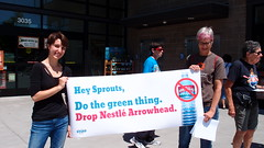 Sprouts Action July 2016 (storyofstuff) Tags: action protest arrowhead sprouts nestle sustainability citizenmuscle