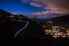 Valloire de nuit (kilian336) Tags: alpes alps montagne mountain nuit night light painting valloire lumire clouds nuages ciel sky toiles stars savoie france