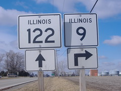 009-122 (paulthemapguy) Tags: 9 122 illinois route highway state sign