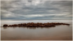 Southerndown Rocks (tina777) Tags: southerndown beach rocks sea seaside sky clouds long exposure vale glamorgan wales topaz adjust ononesoftware hoya 10 stop nd filter big stopper
