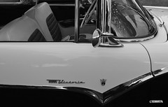 Crown Vic (Kennuth) Tags: monochrome blackandwhite old cars antique vintage ford crownvictoria 1955 unlimitedphotos