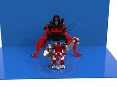 Lavaria vs Macy 2 (DraikNova) Tags: macy mace lavaria mecha mech lava demon beetle ldd legodigitaldesigner legonexoknights nexoknights nexo knights render moc lego