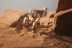 """Hurry up, Rocky, or the transport will leave us out here."" (kevinmboots77) Tags: lego legography starwars stormtroopers sandtroopers sandbox"