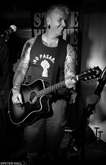 Steve White (peterphotographic) Tags: 20160917225546sefexedwm iphone 6s apple peterhall silverefexpro2 blackandwhite bw monochrome walthamstow eastlondon e17 london england uk britain warrantofficer stowfest stevewhite stevewhiteandtheprotestfamily music musician guitarist guitar candid portrait livemusic live gig concert