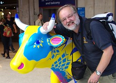 IMGP4393 (Steve Guess) Tags: surrey hills cow parade sculpture trail waterloo station lambeth london england gb uk network rail swt south west trains