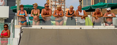 Parade observers. (CWhatPhotos) Tags: benidorm spain spanish resort costa blanca photographs photograph pics pictures pic picture image images foto fotos photography artistic cwhatphotos that have which with contain em10 omd olympus esystem four thirds digital camera lens olympusem10 mk ii 43 mft micro seaside holiday september 2016 gay pride gaypride2016 march parade along front promenade color colors colours colour people happy fun times tan tanned men woman group watching watch observe