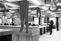 """Office Delirium"" - Leo & Pipo, by Steven Cline (Leo & Pipo) Tags: leopipo leo pipo paris street art collage portrait imaginary handmade analog cut paste paper illustration retro vintage old graphic design mixed media dada surreal france"