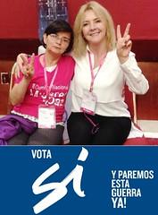 Maria Hermida Rojas Ex combatiente de las Farc y Soraya Galvis Cobo, Secretaria de la Mujer