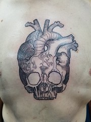 20160903_191104 (emilynewbold2) Tags: tattoo skull heart anatomical sternum chest