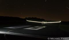 Nightglow (mikefox0202) Tags: segelflugzeug arcus nacht langzeitbelichtung flugplatz lichtspuren blitz flash night glider sailplane edqe
