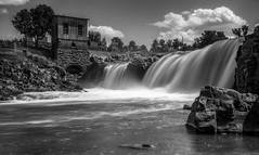 Falls Park (Paul Domsten) Tags: fallspark siouxfalls south dakota monochrome blackandwhite water waterfall landscape pentax southdakota imageaveraging