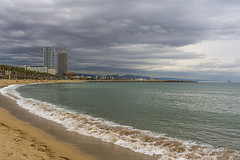 II (Nicols Rosell) Tags: barcelona catalunya catalonia espaa spain europe europa beach playa nubes clouds landscape paisaje nikon nikond7100 d7100