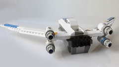 Mini U-Wing (with instructions) (hachiroku24) Tags: moc creation toy one rogue wars star spaceship scale midi mini wing uwing lego