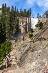 Vernal Fall (mon_ster67) Tags: usnationalpark california yosemitevalley yosemite yosemitenationalpark vernalfall hiking miststrail steps mon mon canon canoneos landscape canoneosrebelt5i sigma hike trail hikingtrail travel waterfall