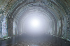 Light at the end of the tunnel (davidherraezcalzada) Tags: hope concept freedom abstract life light dark tunnel underground travel way end entrance corridor illuminated cave journey subway escape destination death faith religious birth born peaceful afterlife heaven spirit spiritual belief walk dream holy