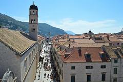 Dubrovnik, veduta dello Stradun dalle mura (Valerio_D) Tags: dubrovnik ragusa hrvatska croazia croatia dalmatia dalmacija dalmazia 2016estate 1001nights 1001nightsmagiccity