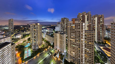 TWB_1407 Panorama (xxtreme942) Tags: singapore hdb housingestate bluehour pano panorama cityscape nightscape skyline architecture city