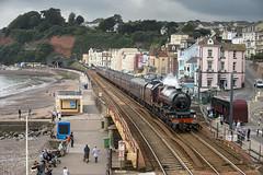 6201 (Geoff Griffiths Doncaster) Tags: 6201 46201 princess elizabeth stanier cathedrals express steam engine dawlish locomotive loco seaside devon