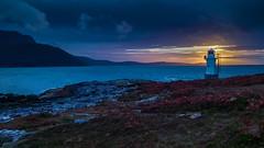 Sonnenuntergang beim Rhue Lighthouse (swissgoldeneagle) Tags: schottland lighthouse sunset unitedkingdom vereinigtesknigreich 950 950xl hdr greatbritain afterglow clouds leuchtturm vereinigteskoenigreich grossbritannien sonnenuntergang lumia cloud rhuelighthouse abendrot meer scotland wolke dusk wolken sea rhue gb