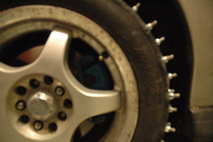 2013-01-05 FirstStudMounted_25 (Absinthe-N-me) Tags: subaru iceracing studdedtire