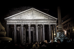 Pantheon la nuit (Rob_el_dur) Tags: sunset pope vatican rome roma pantheon vaticano angels cupola tevere lungotevere angelo