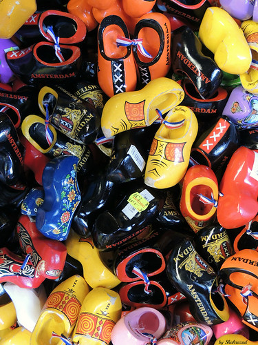 A lot of ....... wooden shoes