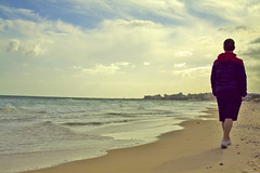 walk on the beach (Ekaterina Soloviova) Tags: sea sun beach mediterranean tunisia sousse солнце море пляж средиземное тунис сусс