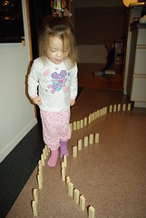 This is what I do with Jenga! (Sim-tov) Tags: family portrait girl toddler december chanukah blocks jenga noa 2012