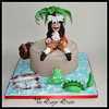 Captain Hook from the original 'Hook' movie (The Sugar Studio ni) Tags: ocean sea tree film cake movie jack boat ship treasure jake coins map handmade chest decoration feathers disney palm peter sparrow pirate figure sword handcrafted caribbean pan jolly roger themed edible scroll topper fondant gumpaste