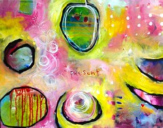 Pink (belindafireman) Tags: art painting rainbow colorful acrylic battle bold liveart artbattle gorillahouse