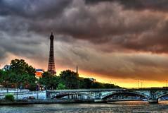 a paris sunset (Rex Montalban Photography) Tags: sunset paris france europe eiffeltower hdr laseine rexmontalbanphotography